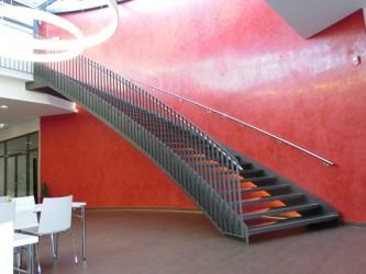 Stahltreppe innen Raum Heilbronn