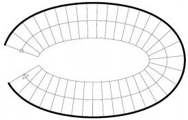Ellipsenförmige Treppe